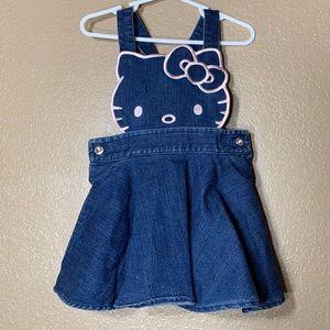 Hello Kitty toddler girl jean dress